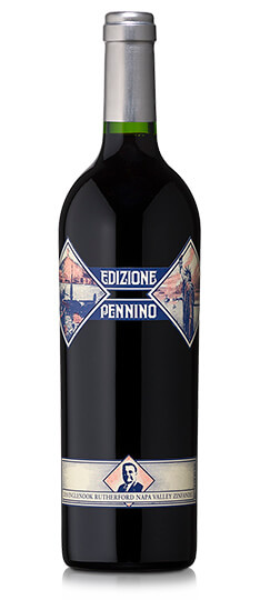 Bottle of Edizione Pennino Zinfandel 2018 red wine.