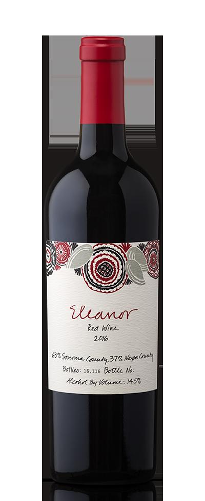 Bottle of Eleanor red wine.