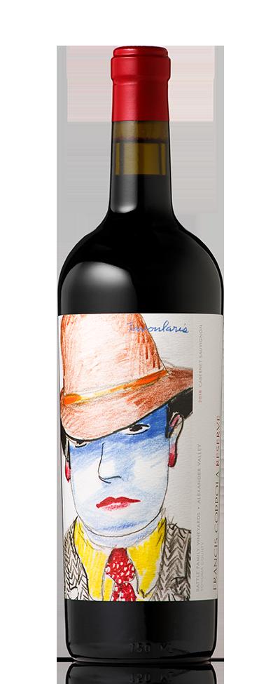 Bottle of Francis Coppola Reserve Cabernet Sauvignon.