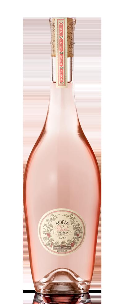 Bottle of Sofia Rosé.