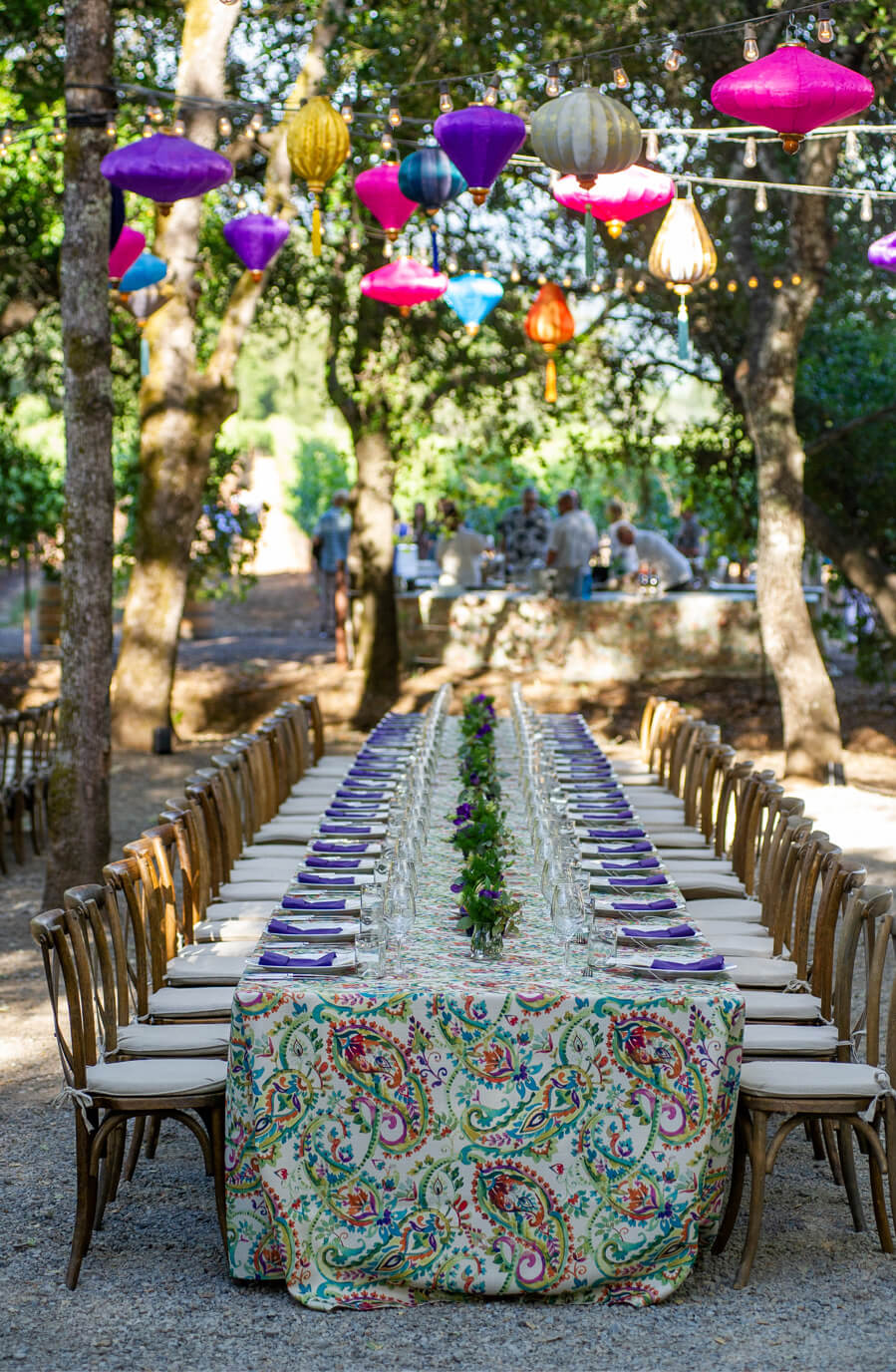 Outdoor table setting.