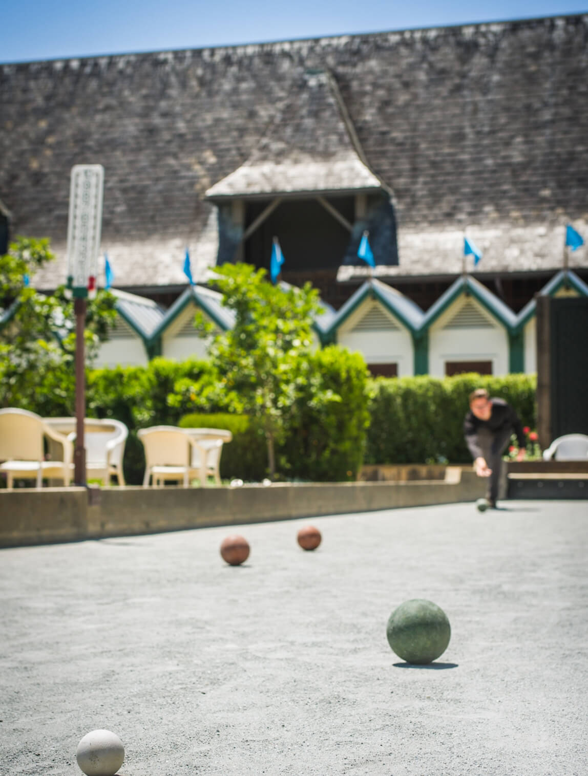 Bocce court at Francis Ford Coppola Winery.