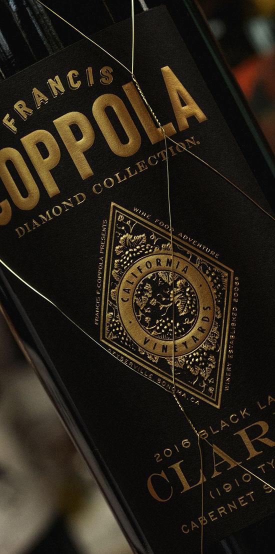 Close up of Claret label.