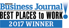 North Bay Business Journal Best Place to Work 2017 Winner!