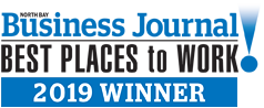 North Bay Business Journal Best Place to Work 2019 Winner!