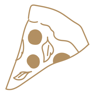 Drawing of a slice of pizza