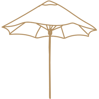 Drawing of an umbrella.