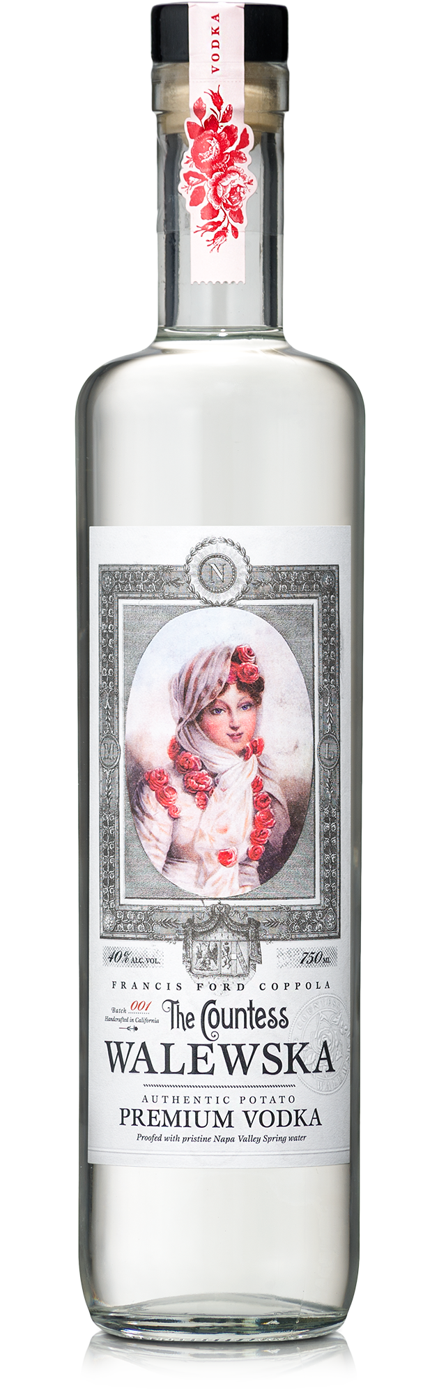 A bottle of The Countess Walewksa Vodka.