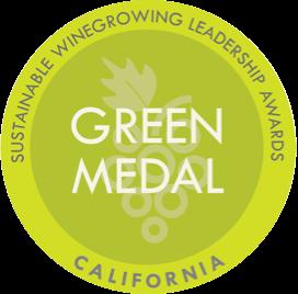 Green Medal Sustainable winegrowing leadership awards California.