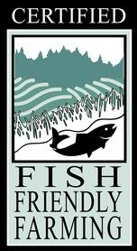 Certified fish friendly farming.
